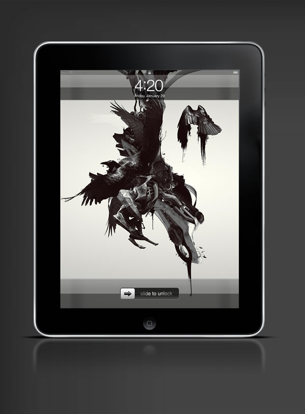 Abduzeedo's iPad wallpaper of the week by Timothée Mathelin