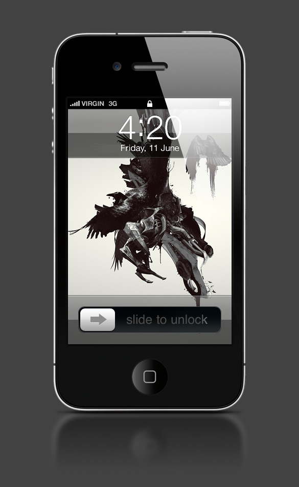 Abduzeedo's iPhone wallpaper of the week by Timothée Mathelin