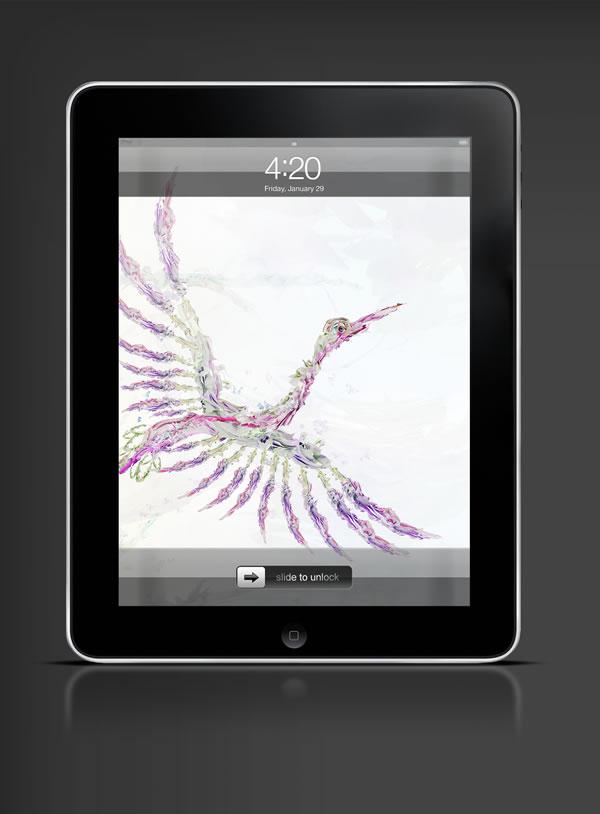 Abduzeedo's iPad wallpaper of the week by  Saad Moosajee