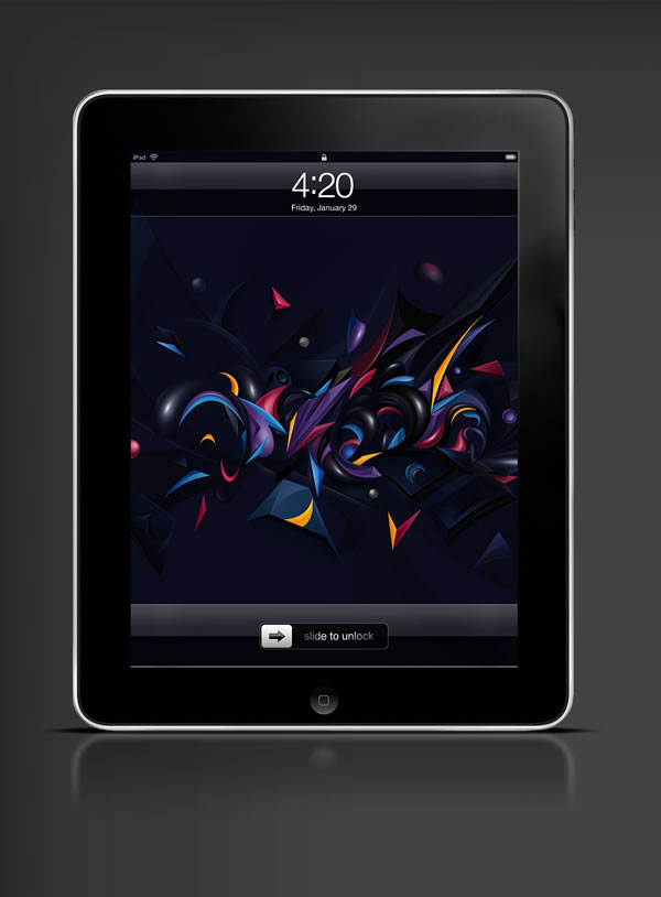 Abduzeedo's iPad wallpaper of the week by Vlad Axinte