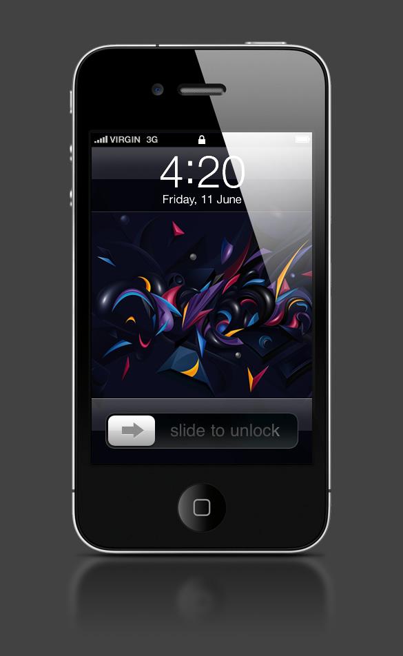 Abduzeedo's iPhone wallpaper of the week by Vlad Axinte