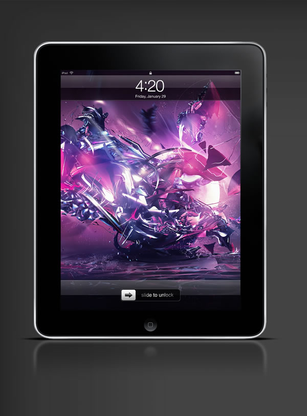 Abduzeedo's iPad wallpaper of the week by Csaba Fekete