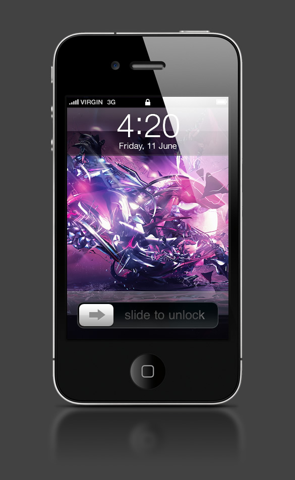 Abduzeedo's iPhone wallpaper of the week by Csaba Fekete