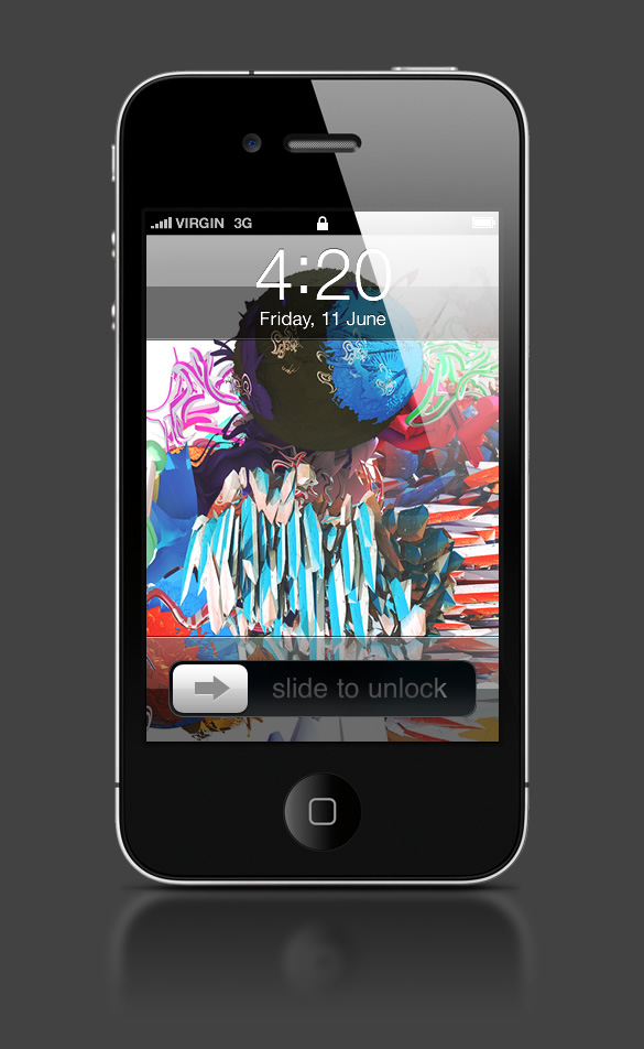 Abduzeedo's iPhone wallpaper of the week by Saad Moosajee