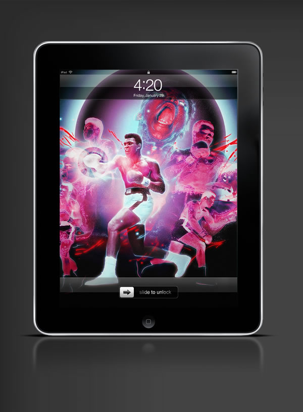 Abduzeedo's iPad wallpaper of the week by Brisseaux