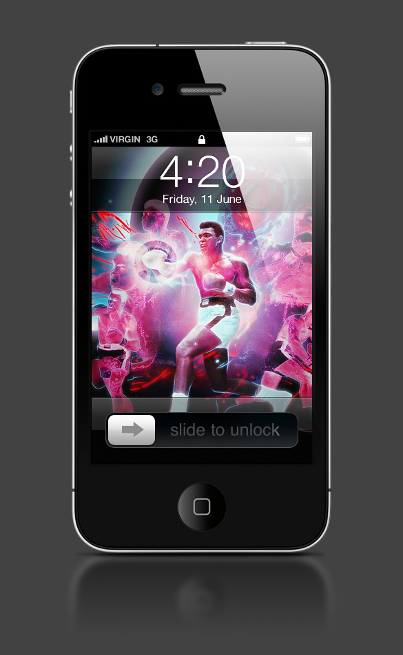 Abduzeedo's iPhone wallpaper of the week by Brisseaux