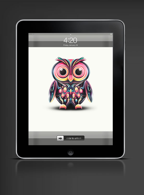 Abduzeedo's iPad wallpaper of the week by Rik Oostenbroek