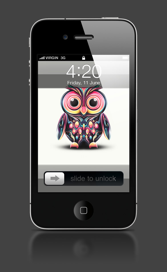 Abduzeedo's iPhone wallpaper of the week by Rik Oostenbroek