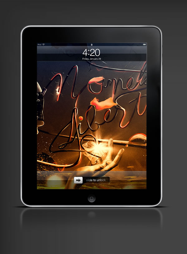 Abduzeedo's iPad wallpaper of the week by Ruudios
