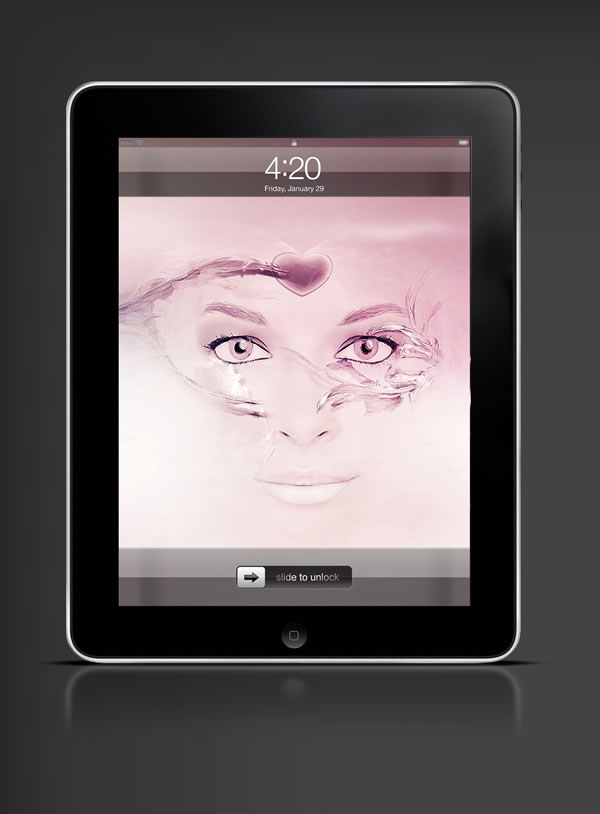 Abduzeedo's iPad wallpaper of the week by nagiViTy