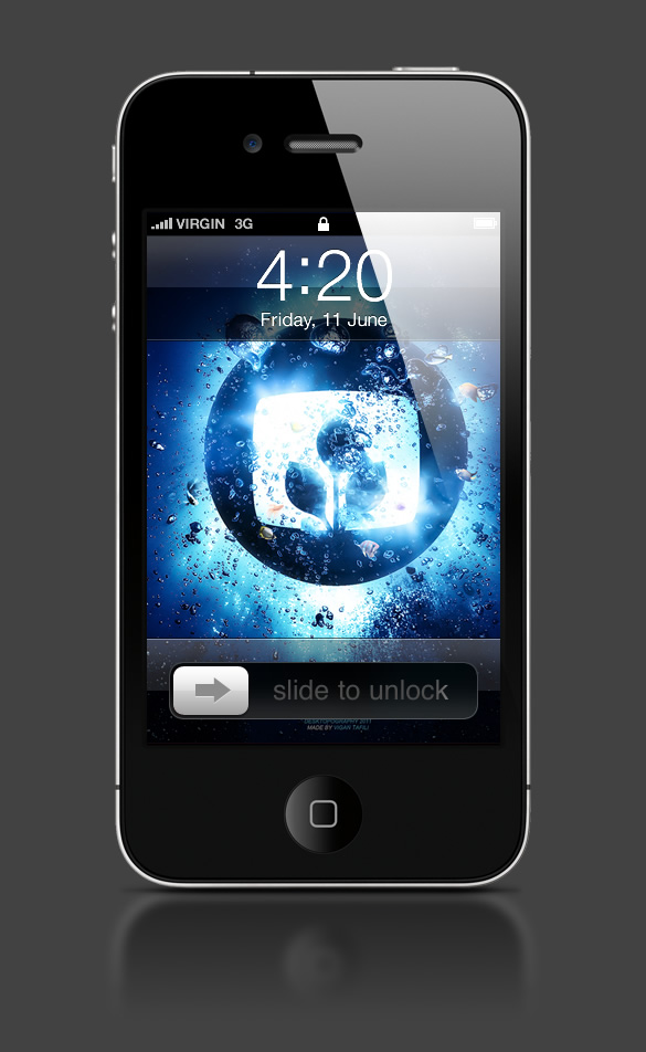 Abduzeedo's iPhone wallpaper of the week by nagiViTy