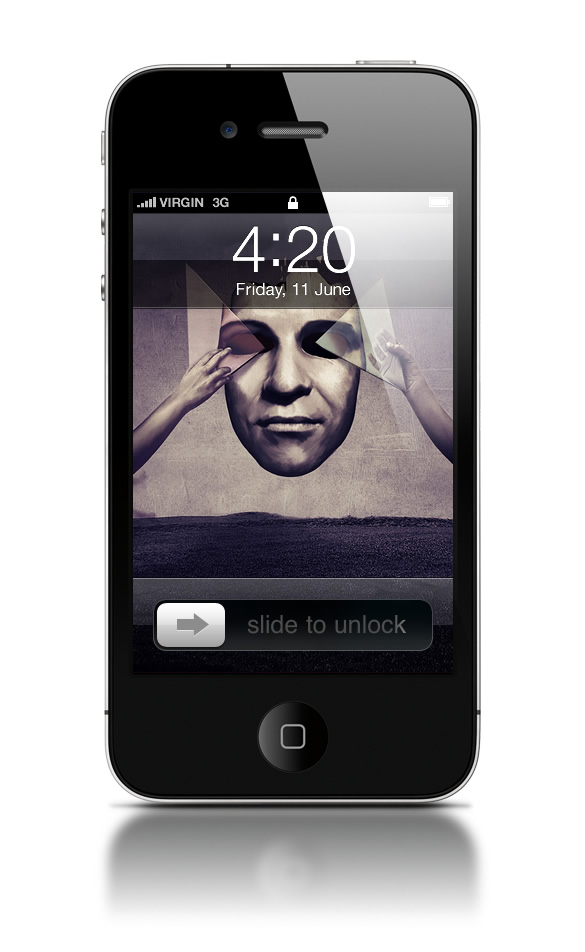 Abduzeedo's iPhone wallpaper of the week by Félix Ajenjo