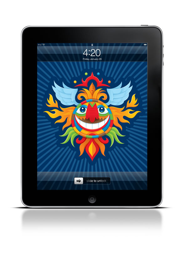 Abduzeedo's iPad wallpaper of the week by Von Glitschka