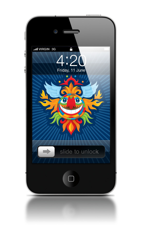 Abduzeedo's iPhone wallpaper of the week by Von Glitschka