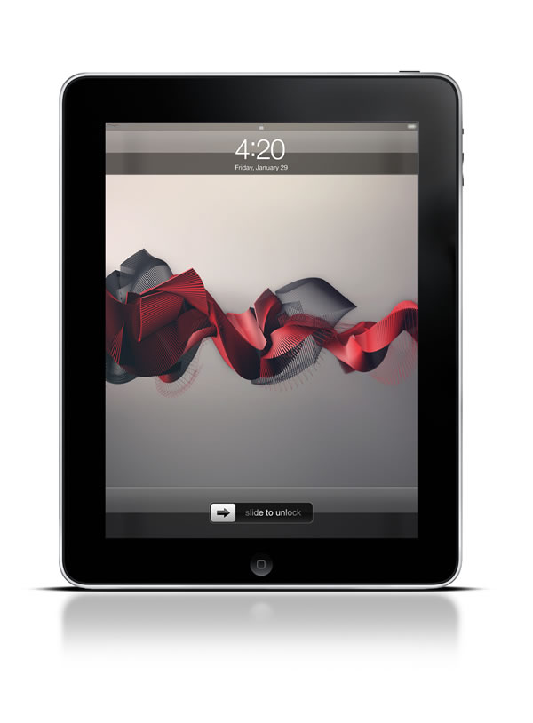 Abduzeedo's iPad wallpaper of the week by Zoltán Szilágyi