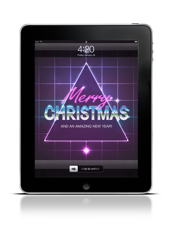 Abduzeedo's iPad wallpaper of the week - Christmas 2012