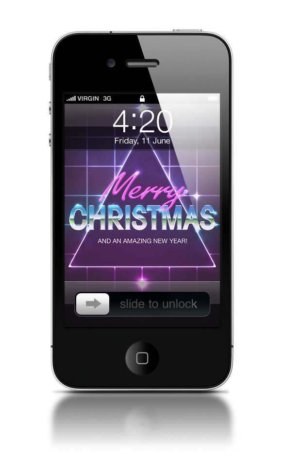 Abduzeedo's iPhone wallpaper of the week - Christmas 2012