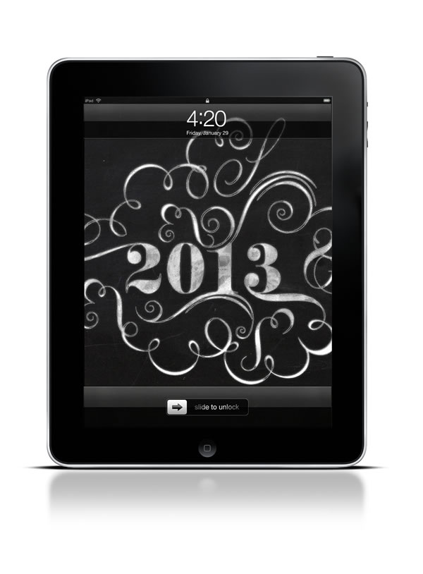 Abduzeedo's iPad wallpaper of the week - Happy 2013