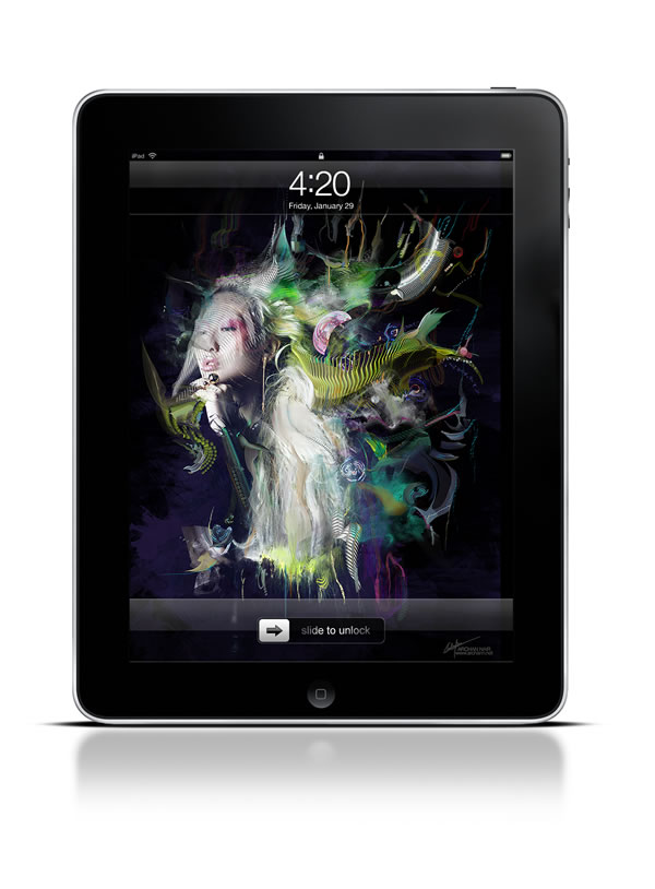 Abduzeedo's iPad wallpaper of the week by Archan Nair