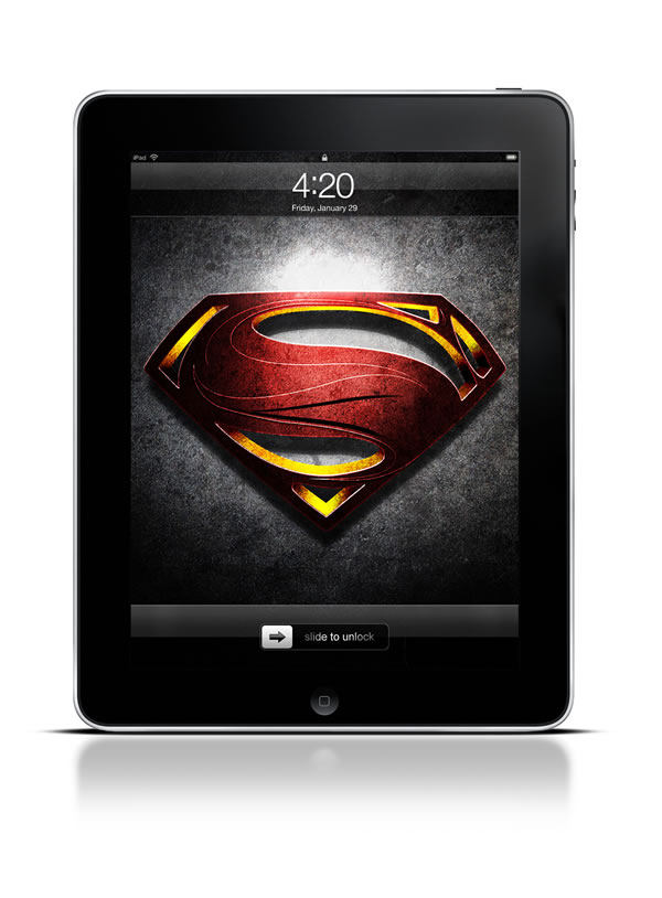 Abduzeedo's iPad wallpaper of the week - Man of Steel