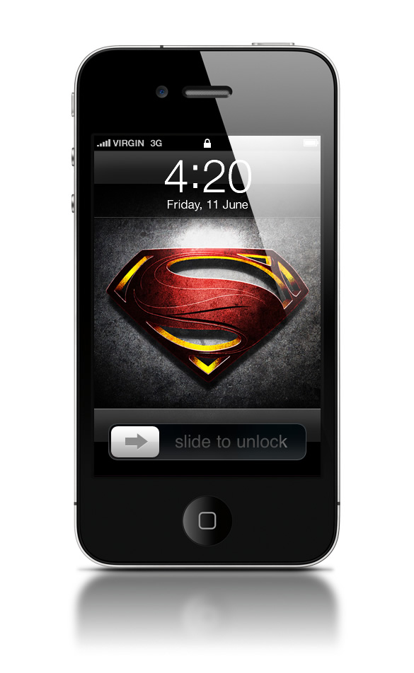 Abduzeedo's iPhone wallpaper of the week - Man of Steel