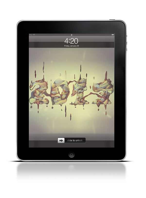 Abduzeedo's iPad wallpaper of the week by Cristian Eres