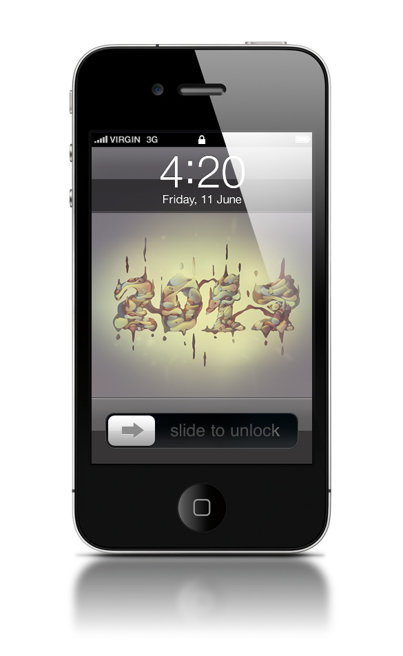Abduzeedo's iPhone wallpaper of the week by Cristian Eres
