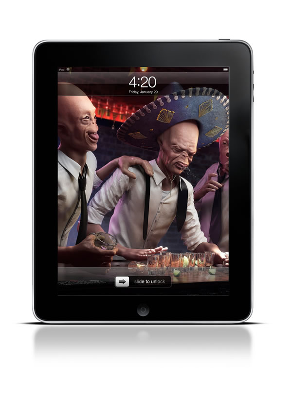 Abduzeedo's iPad wallpaper of the week by Rafael Vallaperde
