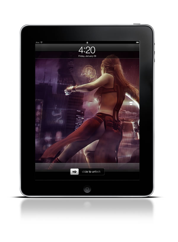 Abduzeedo's iPad wallpaper of the week by Guilherme Marconi