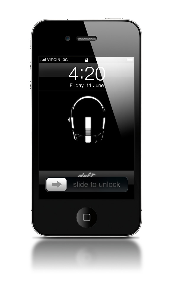 Abduzeedo's iPhone wallpaper of the week - Daft Punk