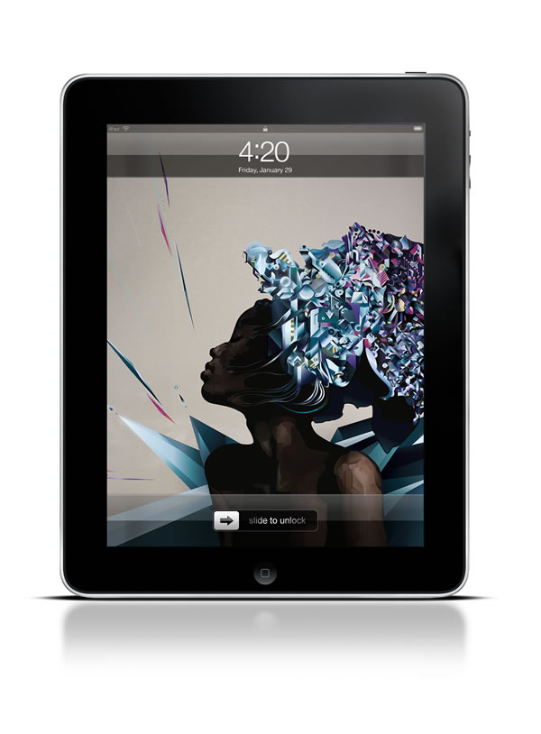 Abduzeedo's iPad wallpaper of the week by Ari Weinkle