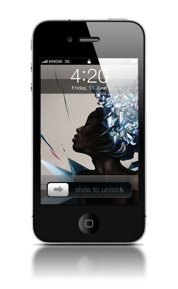 Abduzeedo's iPhone wallpaper of the week by Ari Weinkle