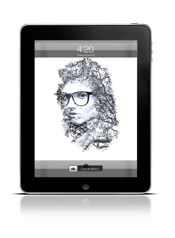 Abduzeedo's iPad wallpaper of the week Double Exposure