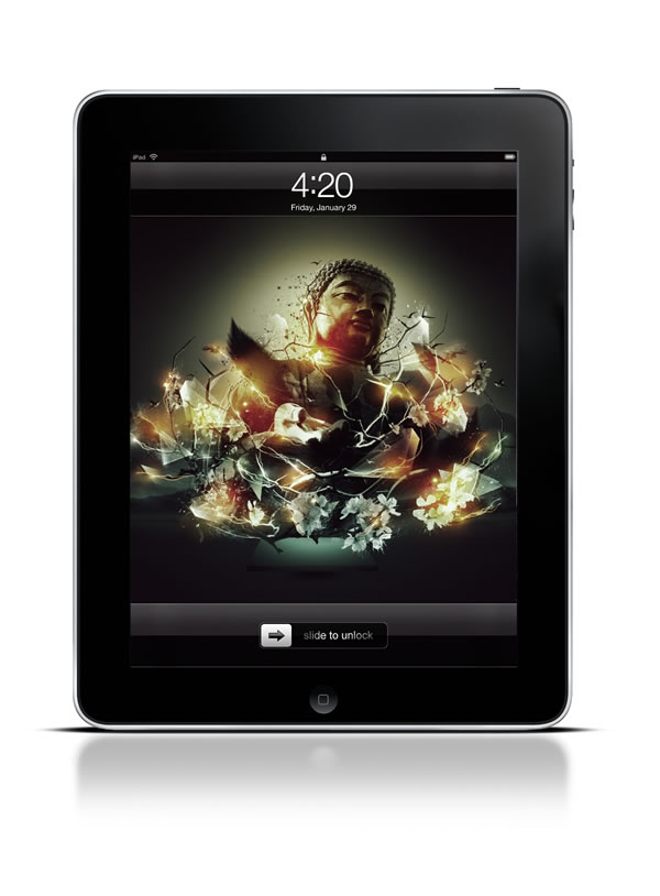 Abduzeedo's iPad wallpaper of the week by Sebastian Andour
