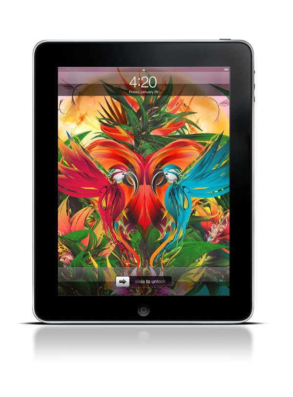 Abduzeedo's iPad wallpaper of the week by Sebastian Murra