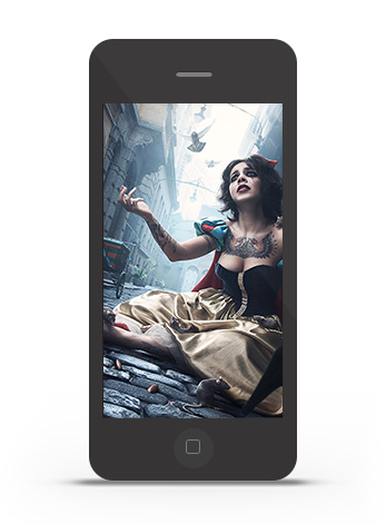 Abduzeedo's iPhone wallpaper of the week by Rafael Vallaperde
