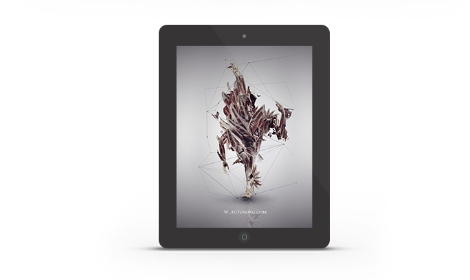 Abduzeedo's iPad wallpaper of the week by Futurorg