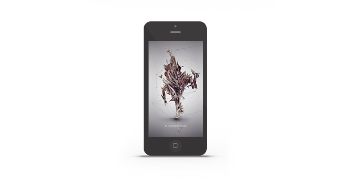 Abduzeedo's iPhone wallpaper of the week by Futurorg