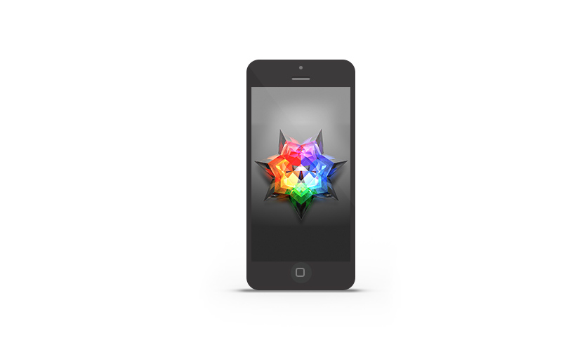 Abduzeedo's iPhone wallpaper of the week by Justin Maller