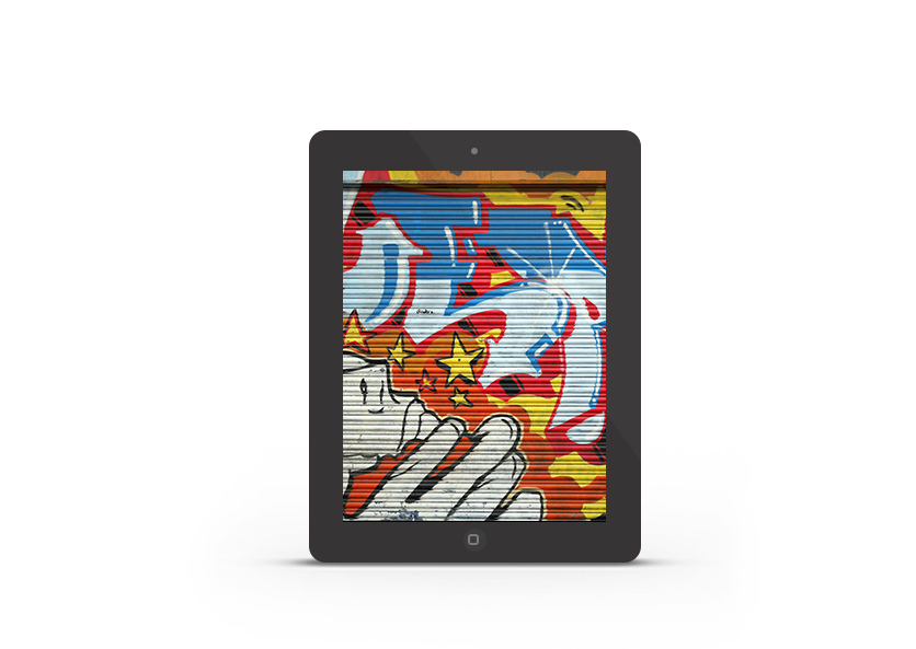 Abduzeedo's iPad wallpaper of the week Hoxton Graffiti
