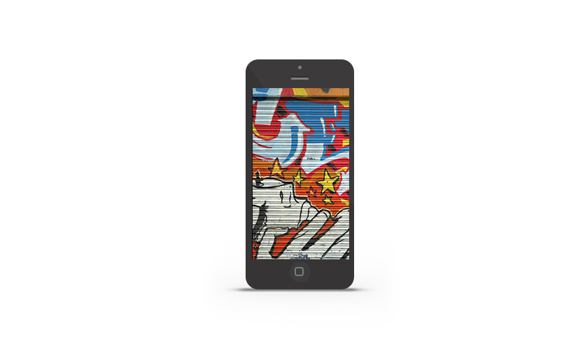 Abduzeedo's iPhone wallpaper of the week Hoxton Graffiti