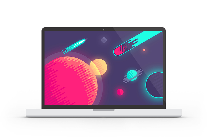 Abduzeedo's wallpaper of the week by Nina Geometrieva
