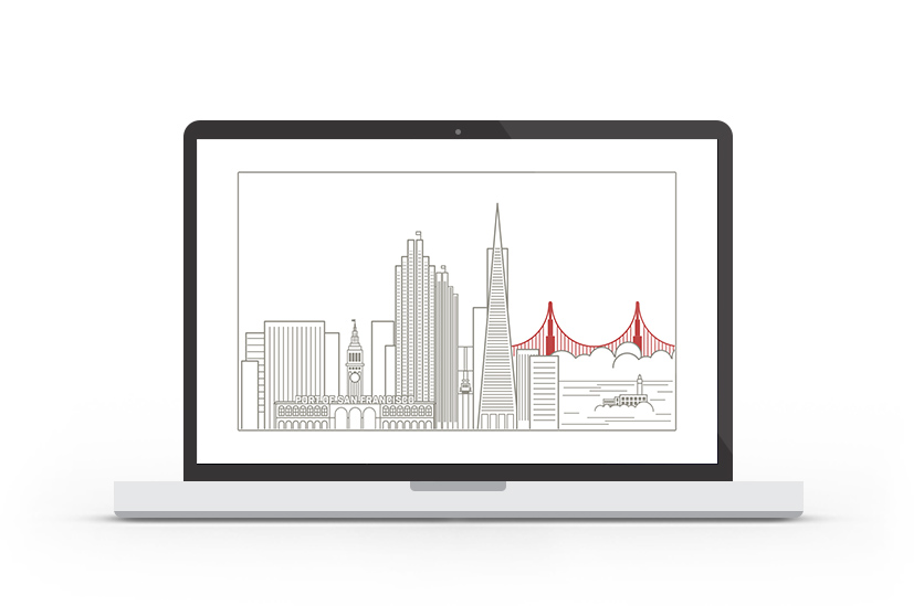 Abduzeedo's wallpaper of the week - San Francisco Skyline