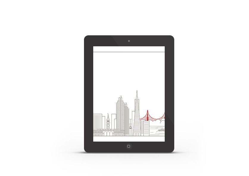 Abduzeedo's iPad wallpaper of the week - San Francisco Skyline