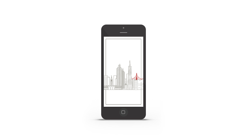 Abduzeedo's iPhone wallpaper of the week - San Francisco Skyline