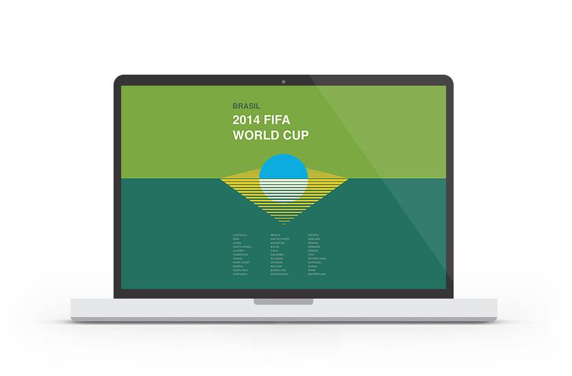 Abduzeedo's wallpaper of the week - 2014 FIFA World Cup