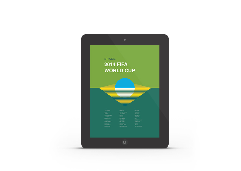Abduzeedo's iPad wallpaper of the week - 2014 FIFA World Cup