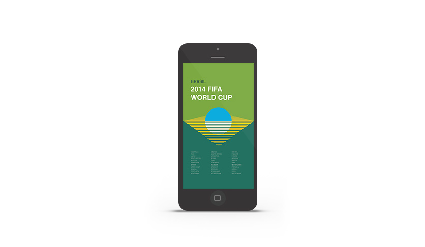 Abduzeedo's iPhone wallpaper of the week - 2014 FIFA World Cup