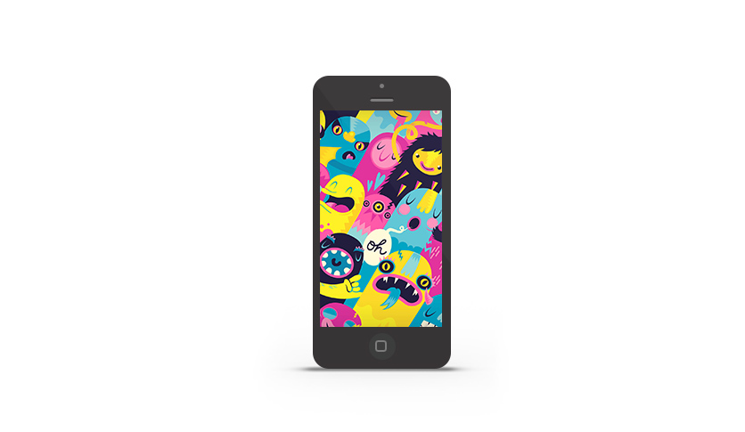 Abduzeedo's iPhone wallpaper of the week by Lienke Raben