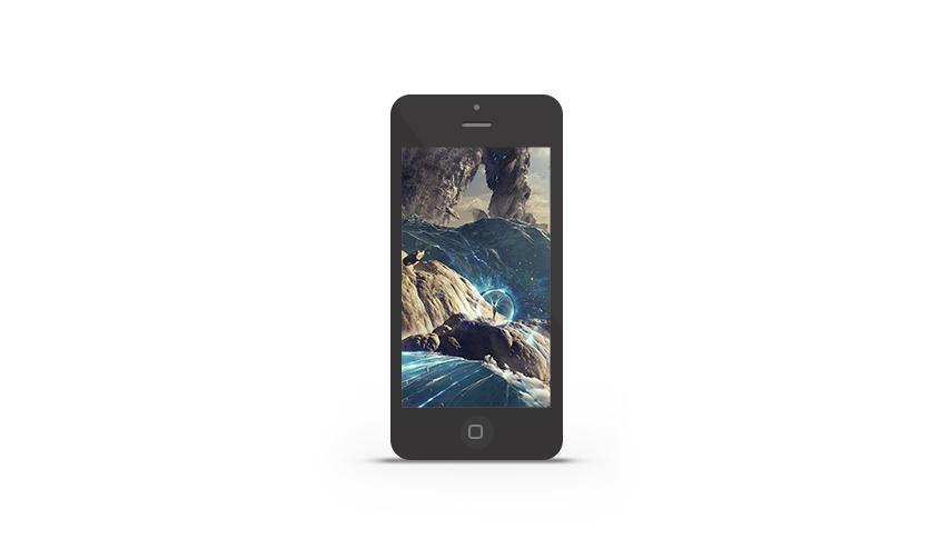 Abduzeedo's iPhone wallpaper of the week by Antoine Collignon